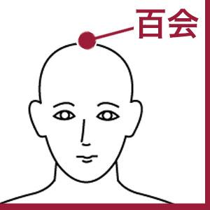 「百会」自律神経を改善し、疲れを取る万能ツボ