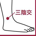 足のむくみ・女性特有の症状・疲労回復に効くツボ「三陰交」 ~女性ホルモンの働きを整える